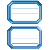 HERMA Book labels blue frame lined 82x55 mm | Dodax.ca