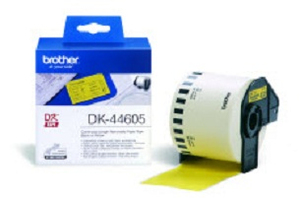 Brother DK-44605 Continuous Removable Yellow Paper Tape (62mm) | Dodax.at