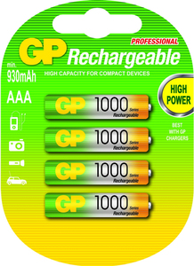 GP 4er Akku-Set Typ Micro (AAA) 950mAh | Dodax.at