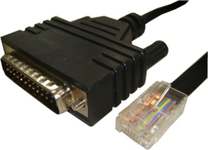 Cisco CAB-CONAUX= 1.8m DB25 RJ-45 Schwarz Serien-Kabel | Dodax.at