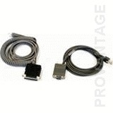 Datalogic CAB-408 RS-232 Pwr Coil 9-Pin Fem 9-pin RS-232 cable interface/gender adapter | Dodax.com