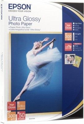 Epson Ultra Glossy Photo Paper, 130 x 180 mm, 300 g/m², 50 Blatt | Dodax.at