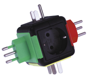 Reisstekker World Travel Adapter, geaard