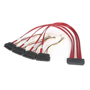 StarTech.com 50cm SFF-8484 (32 pin) to SFF-8482 (22pin) SAS Internal Cable with Power (4 pin) | Dodax.at