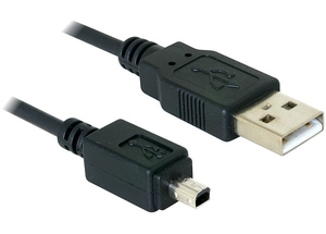 DeLOCK Camera cable USB-B mini 4pin > USB-A 1,5m male-male | Dodax.at