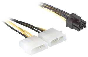 DeLOCK Power Cable for PCI Express Card - 0.15m 0.15m kabel zasilające | Dodax.pl