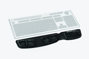 Fellowes 9183201 Gel,Polyurethane Black wrist rest | Dodax.com