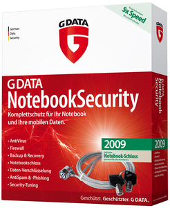 G DATA NotebookSecurity 2009, DE, 1-user 1user(s) 1year(s) German | Dodax.ca