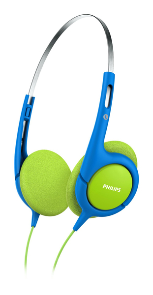 Philips - Headband Headphones For Kids, Blue/Green (SHK1030/00) | Dodax.at