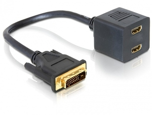 DeLOCK Adapter DVI 25 male > 2x HDMI female (65069)