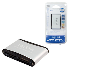 LogiLink Cardreader USB 2.0 external Alu | Dodax.at