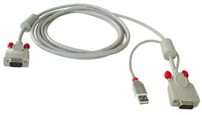 Lindy Combined KVM cable, 3m 3m Tastatur/Video/Maus (KVM)-Kabel | Dodax.ch