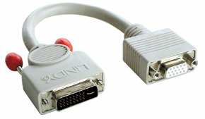 Lindy DVI-A/VGA FM cable, 0.2m 0.2m DVI-A VGA (D-Sub) Grey | Dodax.co.uk