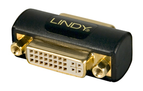Lindy DVI Coupler DVI DVI Black cable interface/gender adapter | Dodax.co.uk
