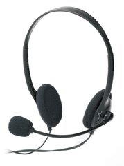 Ednet Headset Binaural Wired Black mobile | Dodax.ca