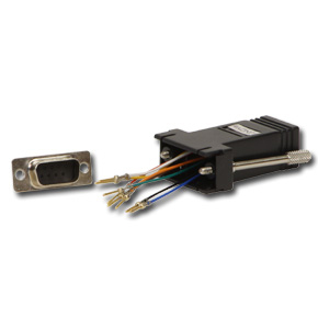 Lindy RJ-45 / 9-pin D Adapter RJ-45 FM 9-pin D M Black cable interface/gender adapter | Dodax.co.uk
