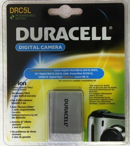 Duracell Lithium-Ionen-Akku NB-5L, 820 mAh | Dodax.at
