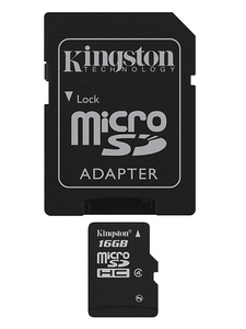 Kingston Technology 16Gb microSDHC 16GB MicroSDHC Flash Class 4 Speicherkarte | Dodax.de