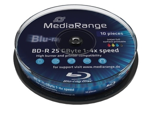 Mediarang BD-R 4x Single Layer 25GB 10-Pck. | Dodax.de