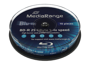 Mediarang BD-R 6x Single Layer 25GB 10-Pck. | Dodax.ch