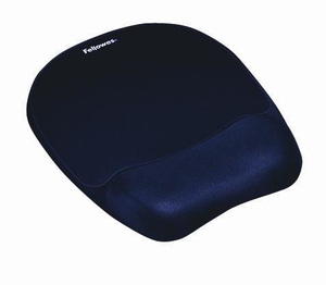 Fellowes - Memory Foam Mouse Pad/Wrist Rest Sapphire  Blue (9172801) | Dodax.co.jp