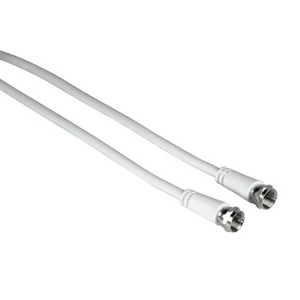 Hama 00011898 3m F M F M White coaxial cable | Dodax.co.uk