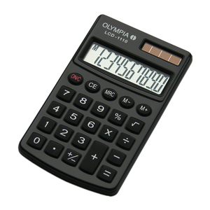 Olympia LCD 1110 Pocket Basic calculator Black | Dodax.co.uk