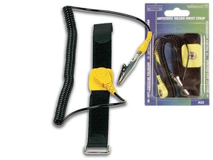 Velleman - Antistatic Wrist Strap, Nylon, Black (AS2) | Dodax.com