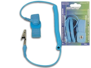 Velleman - Antistatic Wrist Strap, PVC, Blue (AS3) | Dodax.de