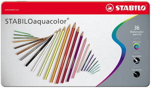 Stabilo Aquacolor Farbstift 36er Metalletui | Dodax.co.jp