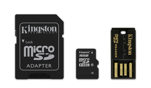 microSDHC Card 16GB Multi Kit Kingston C10 | Dodax.at