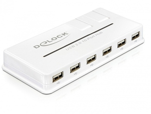 Delock 61857 USB 2.0 Hub 10 Port | Dodax.at