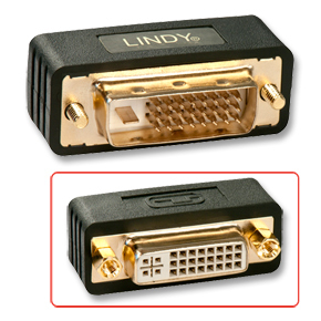 Lindy DVI-I Port Saver DVI-I DVI-D Black cable interface/gender adapter | Dodax.co.uk