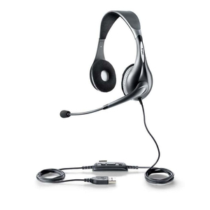 Jabra UC VOICE 150 MS duo Stereophonisch Kopfband Grau Headset | Dodax.at