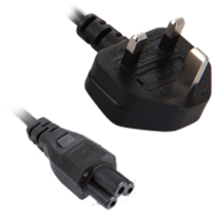 V7 NOTEBOOK POWER CABLE UK PLUG TO IEC-C5 3PIN M/M 2m | Dodax.co.uk