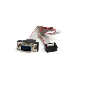 StarTech.com 16in 9 Pin Serial Male to 10 Pin Motherboard Header Panel Mount Cable | Dodax.ca