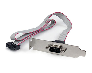 StarTech.com 1 Port 16in DB9 Serial Port Bracket to 10 Pin Header - Low Profile | Dodax.co.jp