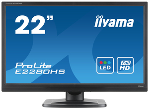 "iiyama ProLite E2280HS-1 21.5"" Black Full HD 