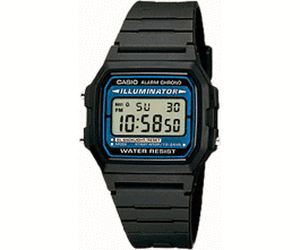 Casio F-105W-1AQUK Wristwatch Male Electronic Black watch | Dodax.com