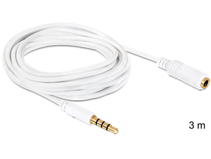DeLOCK 3.5mm 3m 3m 6.35mm 3.5mm White audio cable | Dodax.co.uk