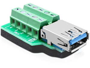 DeLOCK 65370 USB 3.0-A 10p Black,Green,Silver cable interface/gender adapter | Dodax.co.uk