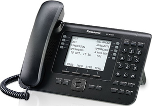 Panasonic KX-NT560 LCD Wired handset Schwarz | Dodax.at