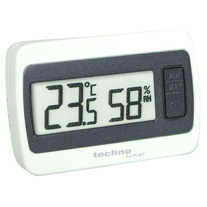 Technoline WS 7005 Interior Electronic environment thermometer Gris, Color blanco termómetro ambiental | Dodax.es