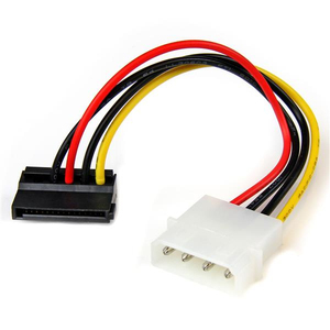 StarTech.com 6in 4 Pin Molex to Left Angle SATA Power Cable Adapter | Dodax.com