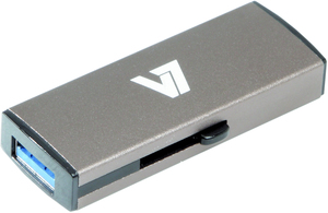 V7 Slide-In USB 3.0 Flash Drive 16GB grey USB flash drive | Dodax.ca