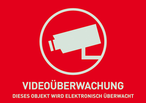 Image of ABUS - CCTV Surveillance Warning Photo Sticker (AU1321)