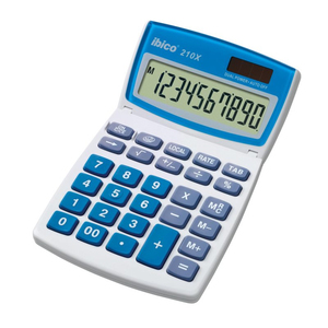 Rexel Ibico 210X Desktop Calculator White/Blue | Dodax.com