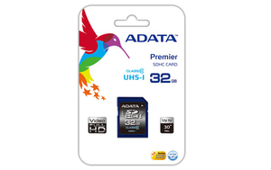 ADATA - Memory Card SDHC 32 GB 50/33 MB/sec (Premier SDHC UHS-I U1 Class10 32GB) | Dodax.at