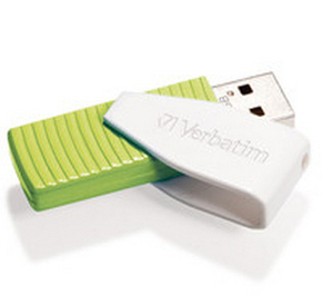 Verbatim - USB Flash Drive Store Go Swivel 32GB  USB 2.0 Green (49815) | Dodax.com