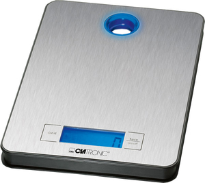Clatronic - Kitchen Scale, LCD, 5 kg, Stainless Steel/Blue (KW 3412) | Dodax.de